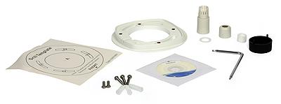 Akcesoria będące w komplecie. Dławnica z uszczelkami pozwala zabezpieczyć przyłącze kablowe przed wnikaniem wody.