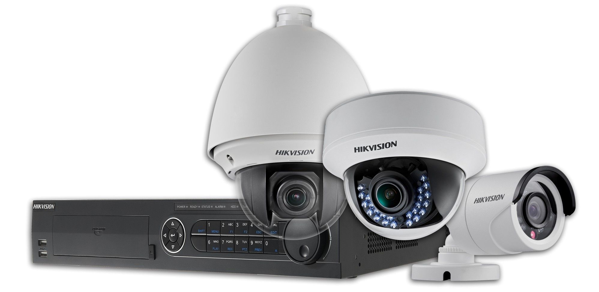 Rejestrator HD-TVI i kamery HD-TVI (obrotowa, sufitowa, kompaktowa)