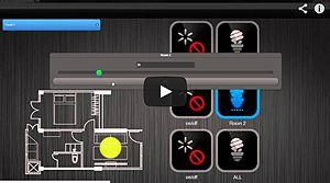 Widok elementów wyświetlanych na ekranie urządzenia mobilnego wraz z poglądową ilustracją działania sterownika