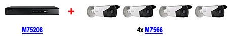 rejestrator M75208 DS-7208HGHI-SH + 4 kamery M7566 DS-2CE16D1T-IT3 (3.6mm)