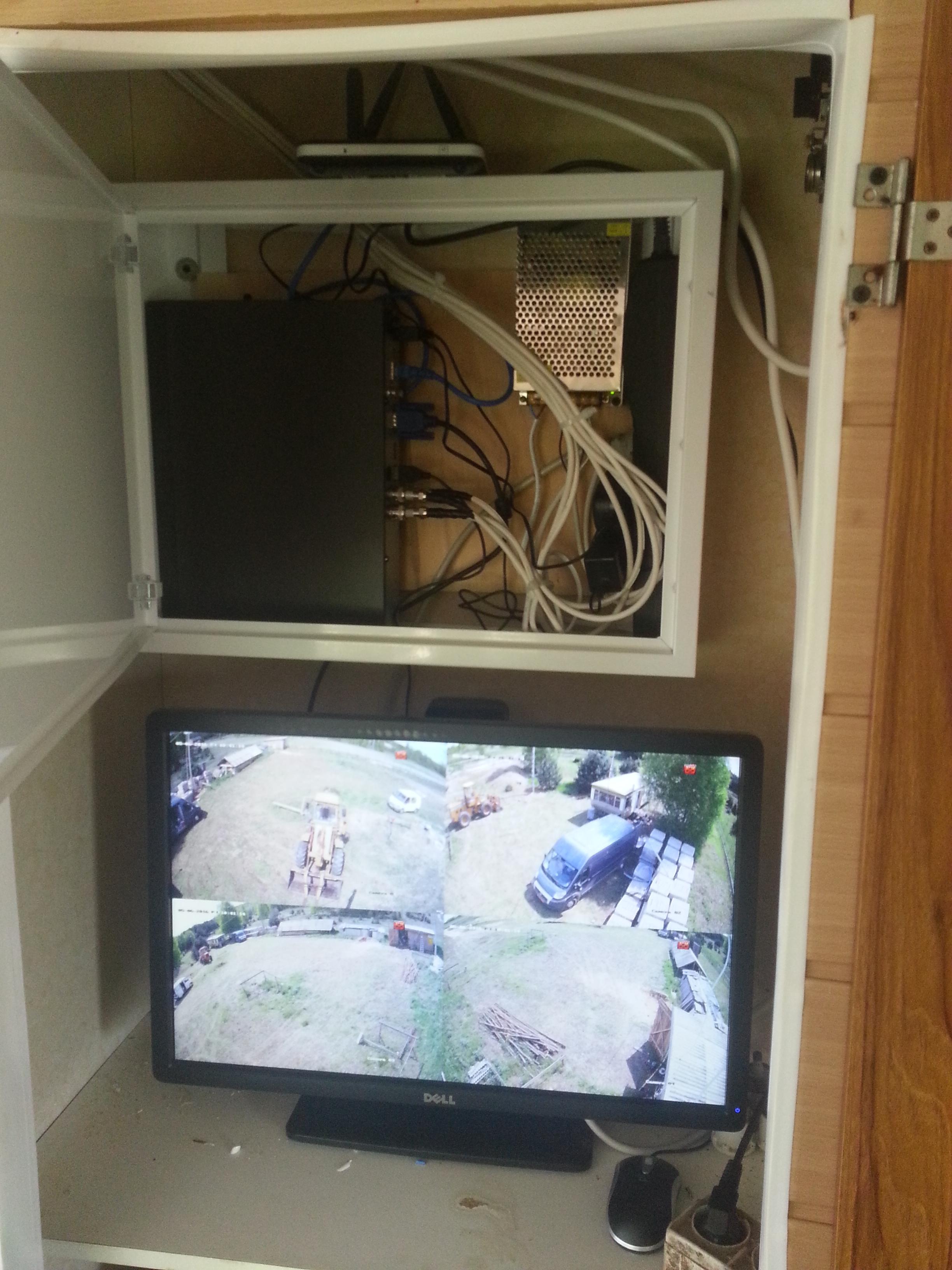 Monitoring placu budowy turbo hd hikvision full HD stalowa wola