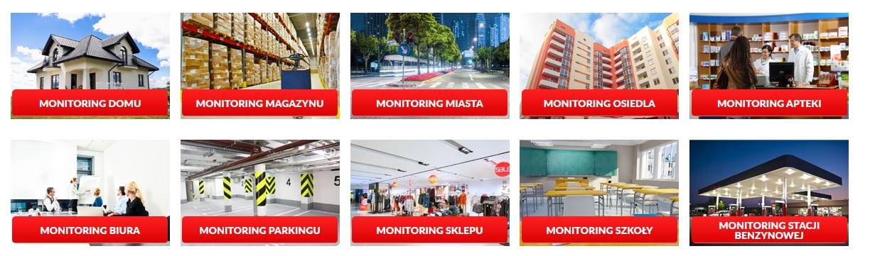 Monitoring  Alarm na terenie HUTY STALOWA WOLA Zabezpieczenie techniczne obiektów