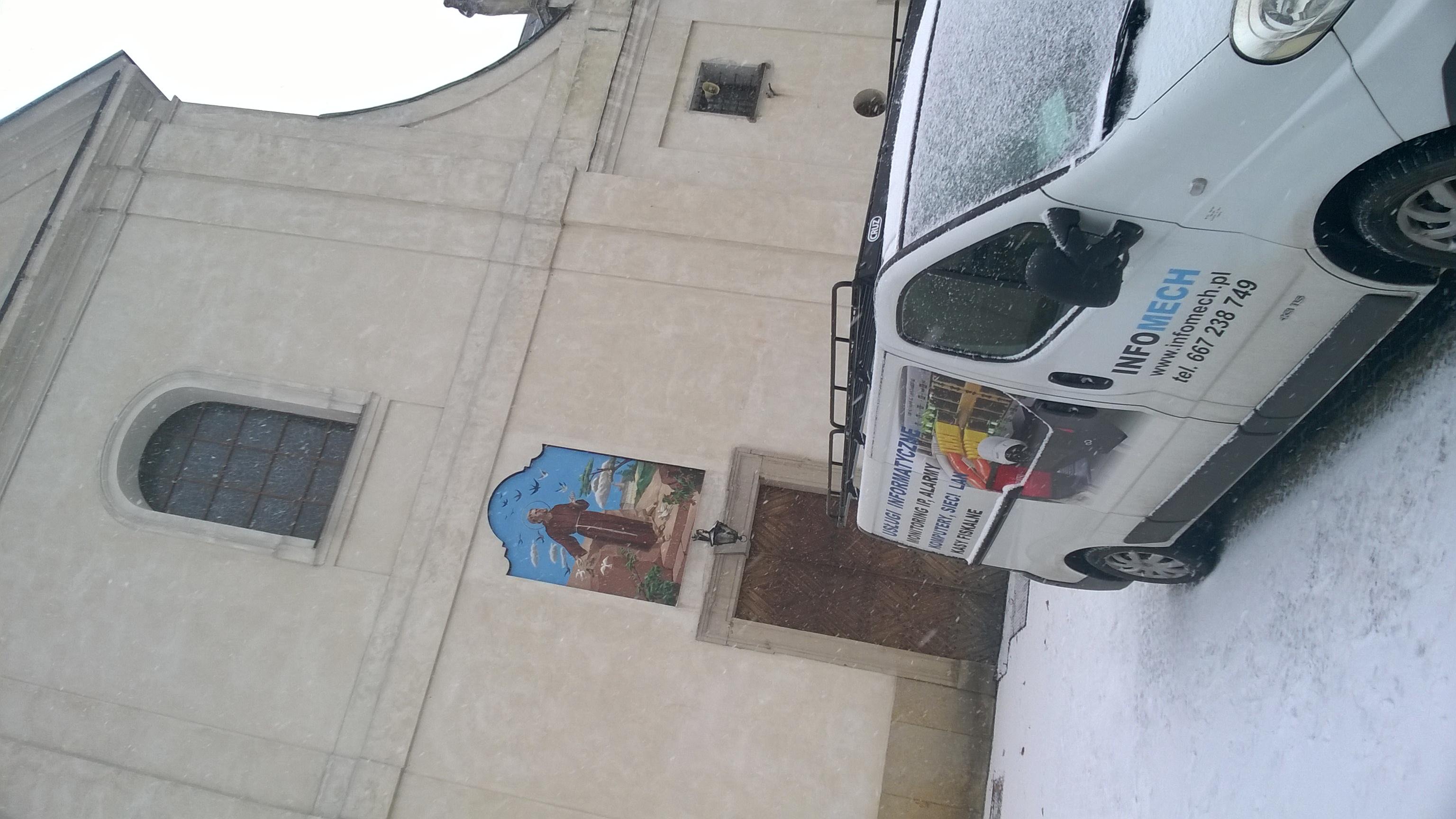 Wykonaliśmy monitoring kościoła i klasztoru Braci Kapucynów w Stalowej Woli - Monitoring wizyjny budynków sakralnych