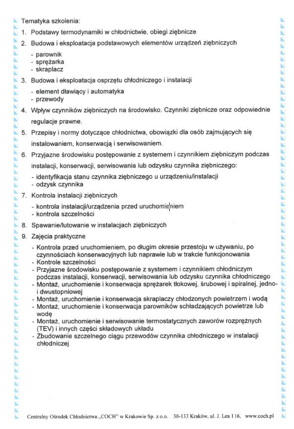 Klimatyzacje domowe Stalowa wola Sandomierz Tarnobrzeg Nisko Uzyskane Szkolenia UDT COCH AGH F-GAZY