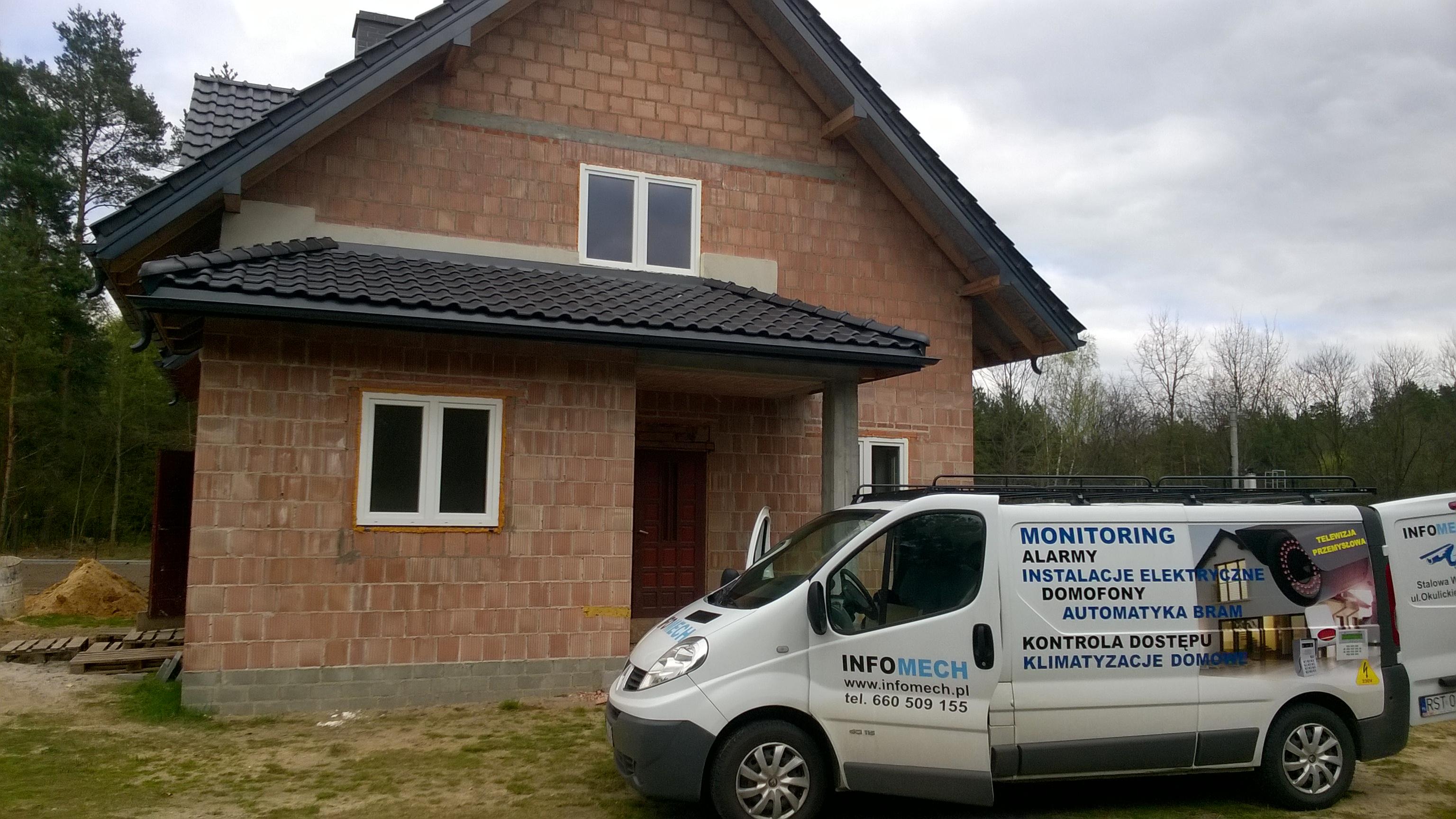 Montaż monitoringu TurboHD Hikvision oraz alarmu Satel Versa okolice Ulanowa Biłgoraja - Dom Jednorodzinny