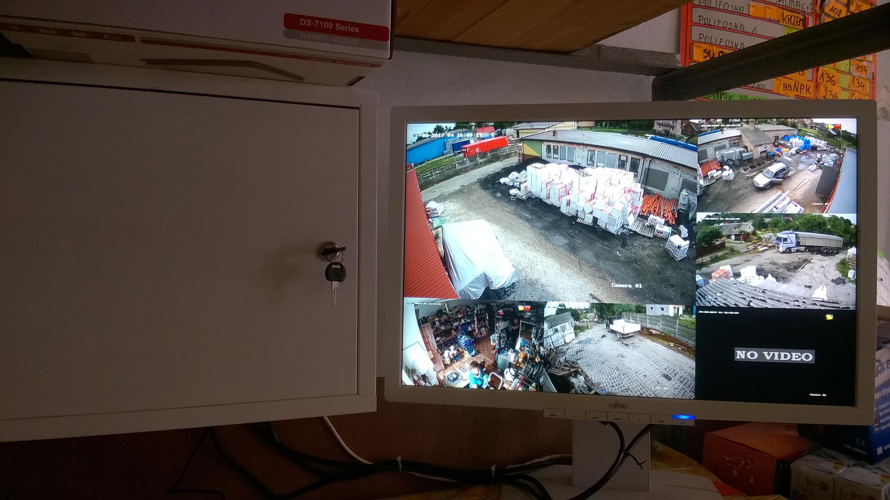 Monitoring Firmy Hurtowni - Inwestor okolice monitoring KRAŚNIK JANÓW LUBELSKI Leżajsk Monitoring FULL HD