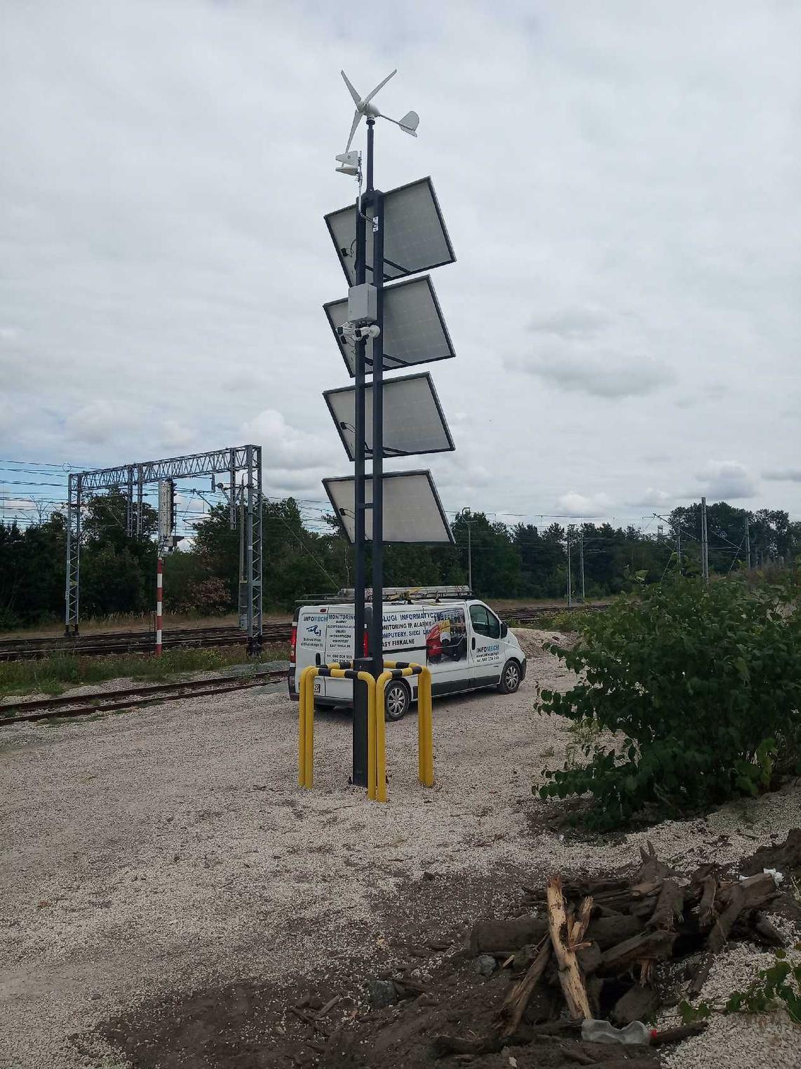 Elektrownia OZE Monitoring CCTV LTE MASZT - montaż, instalacja, produkcja