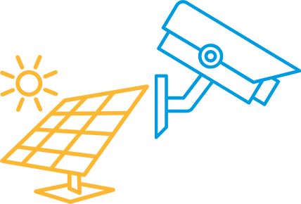 monitoring solarny cctv