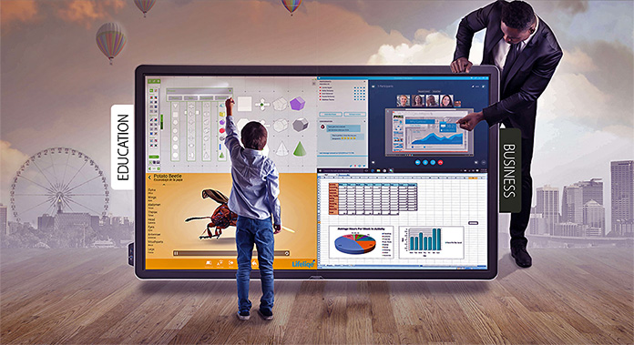 monitory interaktywne stalowa wola komputery dla szkol 1