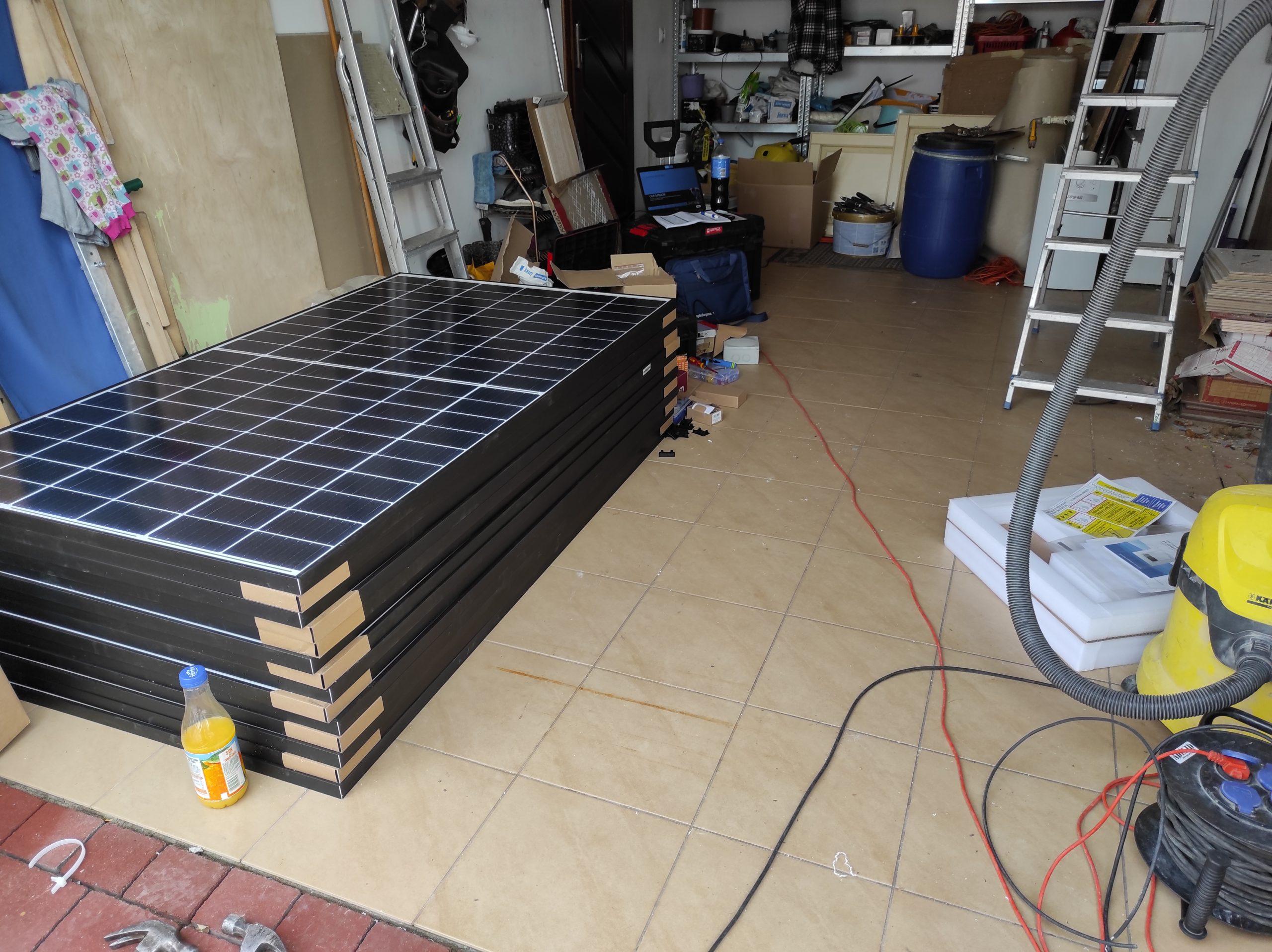 Kolejny wiosenny montaż paneli słonecznych